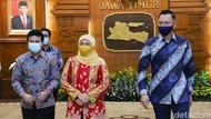 AHY Sebut Pertemuan dengan Gubernur Jatim Bukan Kunjungan Politik