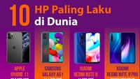 Daftar 10 HP Terlaris di Dunia