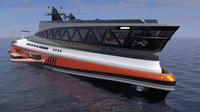 Kapal memiliki kapasitas penumpang 40 orang dan diperkirakan mampu melaju dengan kecepatan 22 knot. (Lazzarini Design Studio)