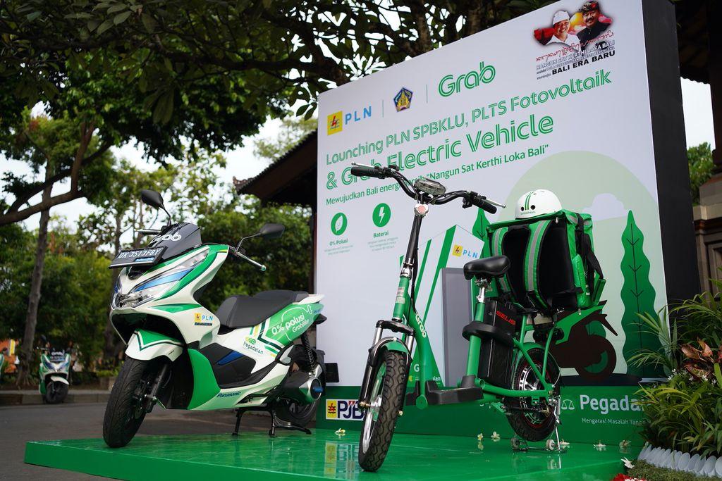 Motor Listrik Grab di Bali