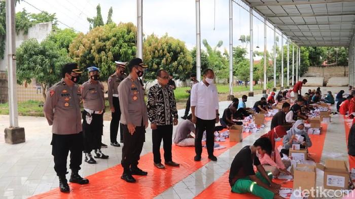 Kapolres Tuban didampingi KPU dan Bawaslu datangi gudang penyimpanan logistik