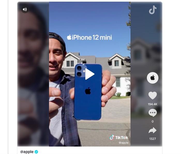 Promosi Apple di TikTok