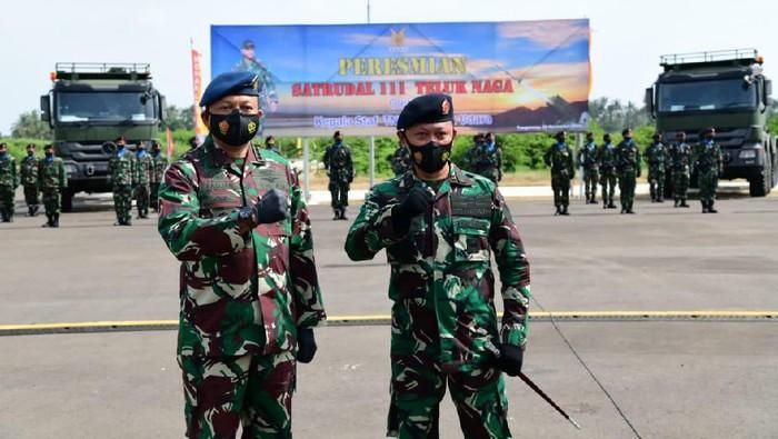 KSAU meresmikan Satuan Peluru Kendali (Saturdal) 111, di Teluk Naga, Tangerang, Banten, Kamis (26/11/2020).