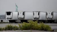 Mengerikan! Deretan Truk Berisi Ratusan Mayat Korban COVID-19 Belum Dikubur di New York