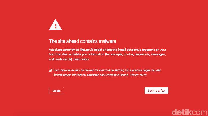 Website KKP dihack