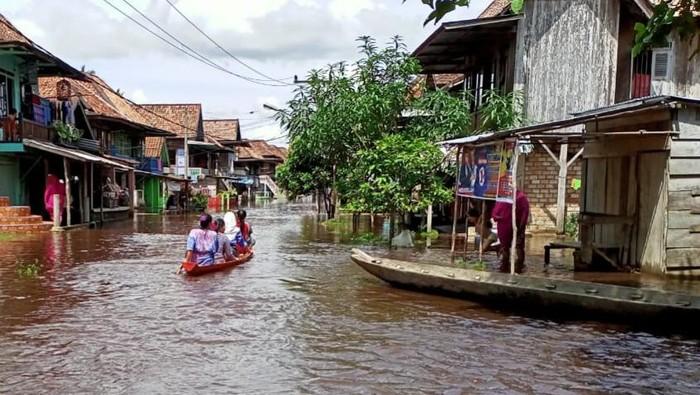 Banjir di Musi Rawas Utara (dok. Istimewa)