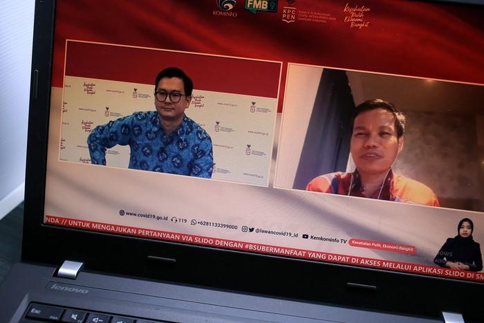 Dr. Muhammad Zain, S.Ag., M.Ag, Direktur guru dan tenaga kependidikan madrasah Direktorat Jenderal Pendidikan Islam Kementerian Agama memberikan penjelasan mengenai subsidi upah bagi guru dan tenaga kependidikna non PNS bidang agama di Jakarta, Kamis, 26 November 2020.