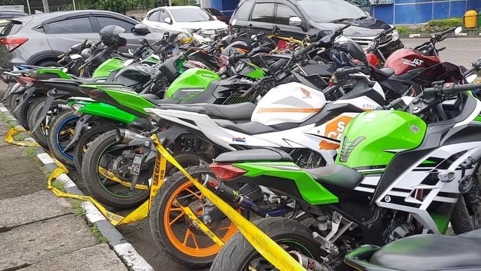 Motor berknalpot brong diamankan di Palembang (Raja Adil-detikcom)