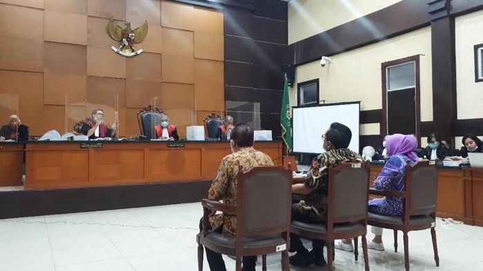 Sidang kasus surat jalan Djoko Tjandra, 27 November 2020. (Dwi Andayani/detikcom)