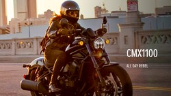 Tampang Honda Rebel 1100 yang Tantang Harley-Davidson