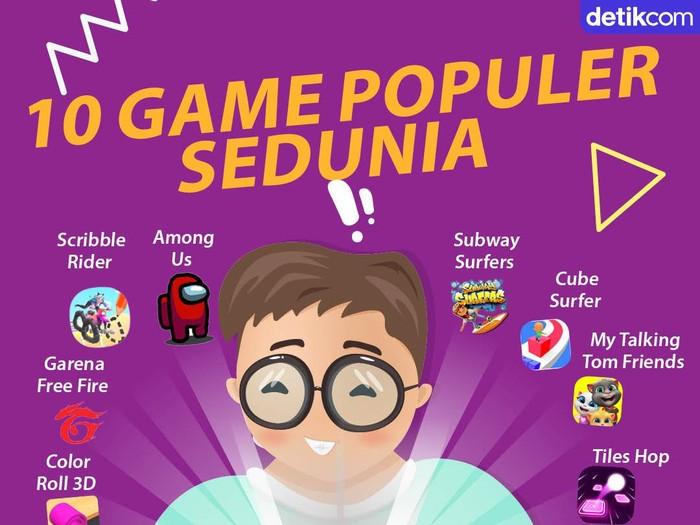 Infografis Game Terpopuler Sedunia