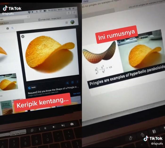 Keripik Kentang Punya Rumus, Netizen Pusing Sendiri Bacanya