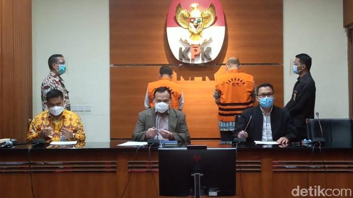 Konferensi pers KPK soal kasus suap yang dilakukan Wali Kota Cimahi Ajay Priatna (Kadek/detikcom)