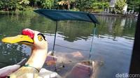 Sejumlah sekoci yang sedianya digunakan untuk berkeliling danau, tampak terbengkalai. Bahkan beberapa diantaranya tenggelam di air danau.