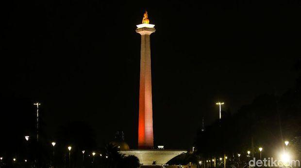 Persija Jakarta merayakan ulang tahunnya yang ke-92, Sabtu (28/11/2020). Pihak klub membuat suasana Jakarta bernuansa oranye dan merah di beberapa titik kawasan Ibu Kota.