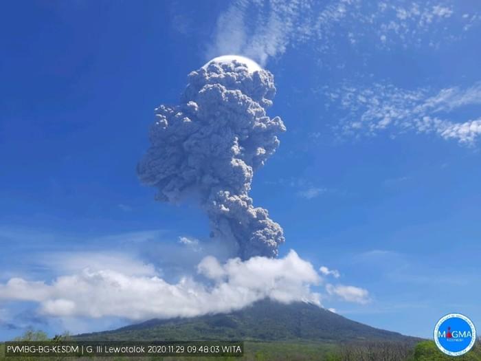 Gunung Ili Lewotolo di Lembata, Nusa Tenggara Timur. (PVMBG)