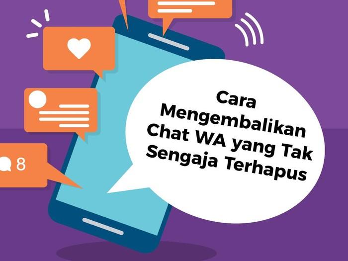 Infografis Mengembalikan Chat WA Terhapus