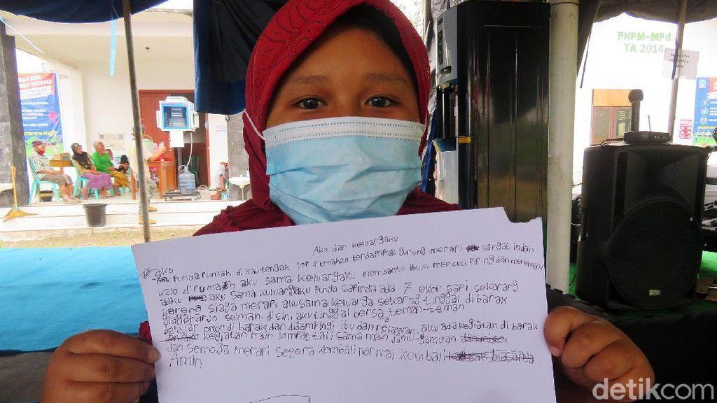 Menulis dan Menggambar, Terapi Stres Anak Pengungsi Merapi