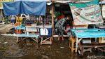 Pelabuhan Kali Adem Kembali Terendam Banjir Rob
