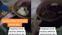 Tergoda Harga Murah, Netizen Ini Beli Wajan Anti Lengket yang Meleleh saat Dipakai