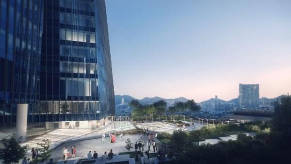 Berdiri hingga setinggi 200 meter, bernama Airside, bangunan ini diproyeksi selesai tahun 2022 dan akan menjadi landmark tertinggi yang menempati lahan bandara lama.