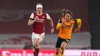 Arsenal Tertinggal 1-2 dari Wolverhampton di Babak Pertama