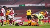 Insiden Benturan Luiz dan Jimenez Bikin Arsenal Hilang Fokus