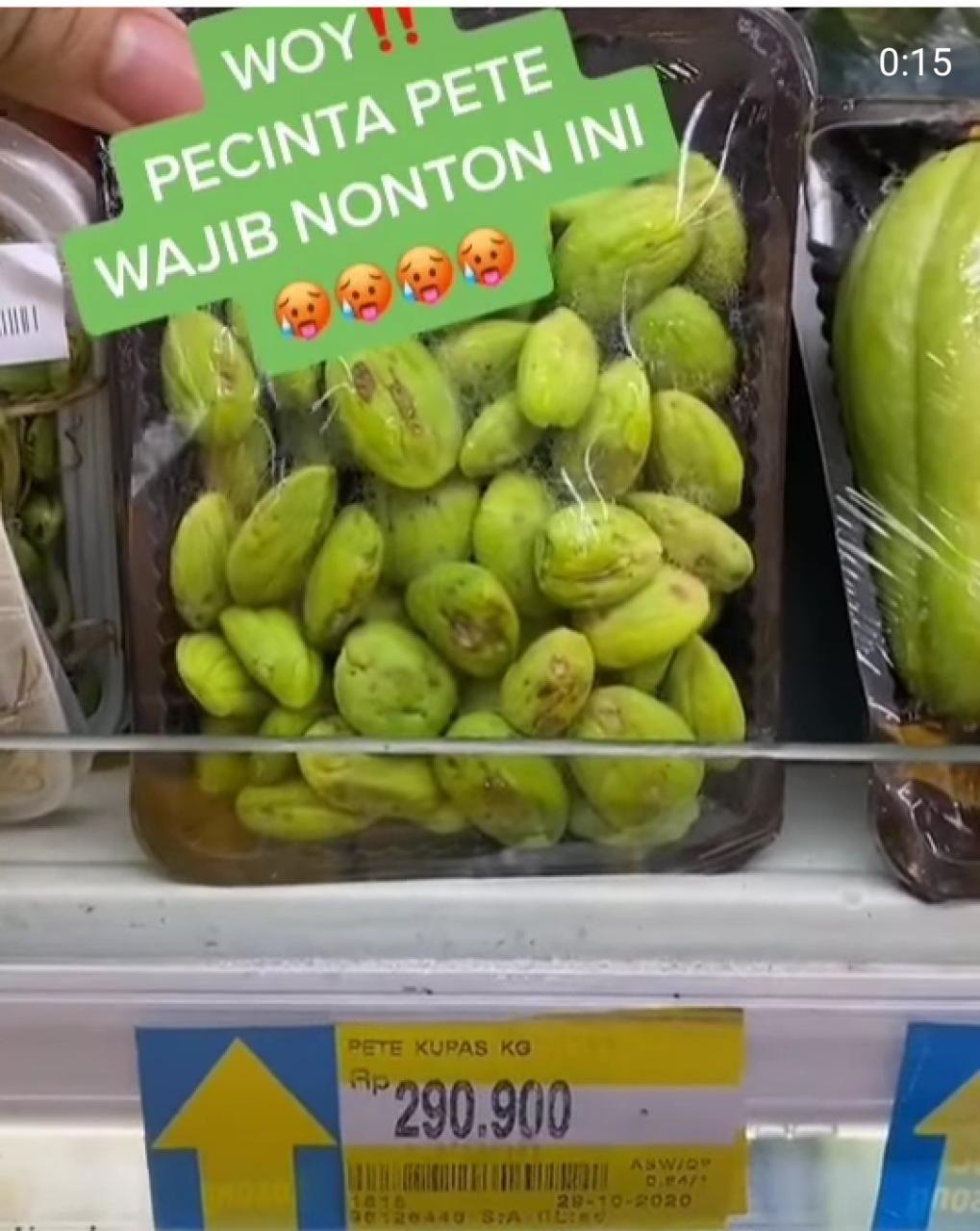 Harga Pete Rp 300 Ribu di Supermarket, Netizen : Di Kampung Bisa Buat Beli Sekebon