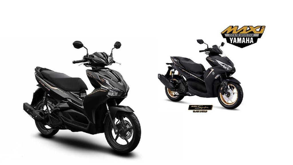 Komparasi Honda Air Blade 150 vs Yamaha Aerox 155, Pilih Mana?
