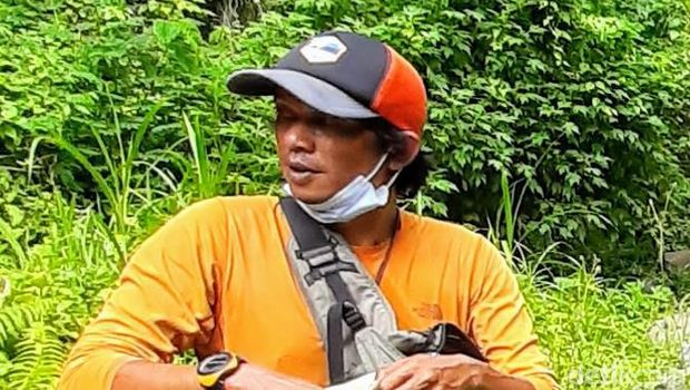 Ketua Tim Survei dan Pemetaan Gunung Pyramid, Agus Saban