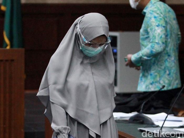 Pinangki Sirna Malasari kembali mengikuti sidang lanjutan kasus suap di Pengadilan Tipikor, Jakarta, Senin (30/11/2020). Sidang menghadirkan 6 orang saksi.