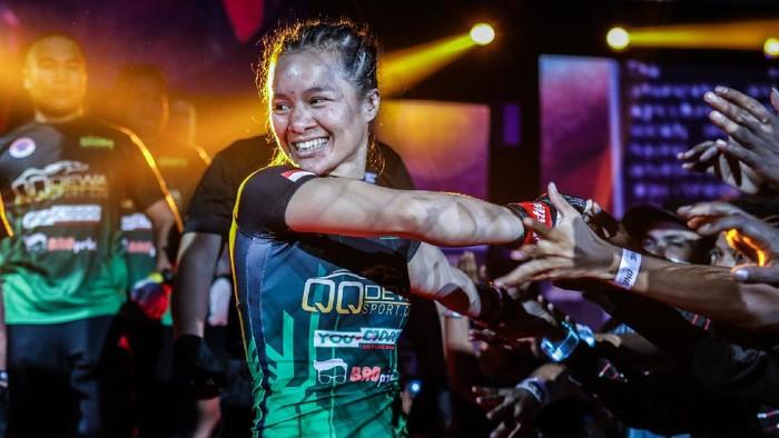 Priscilla Hertati Lumbangaol, salah satu petarung Indonesia di ONE Championship