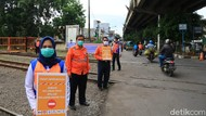 Foto: Sosialisasi Keselamatan Perlintasan Kereta di Bandung