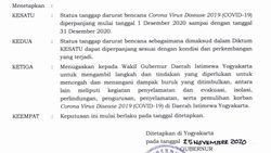 Sultan HB X Perpanjang Status Tanggap Darurat DIY Hingga Akhir Tahun