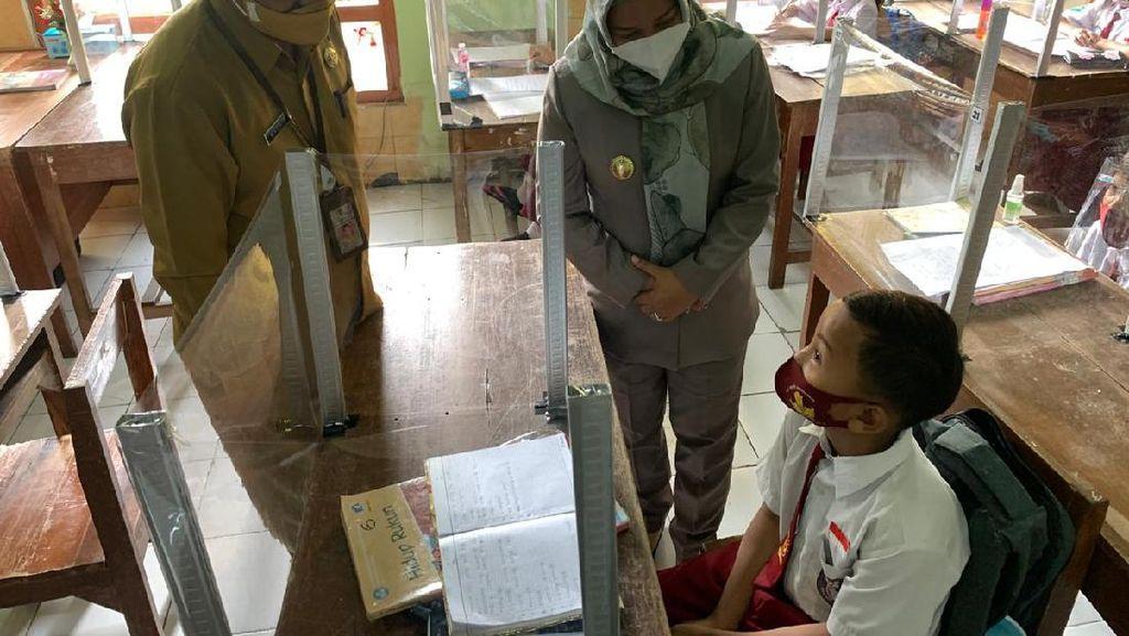 Uji Coba Sekolah Tatap Muka, Wali Kota Mojokerto Cek Prokes
