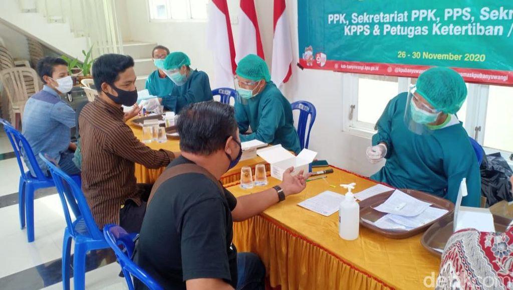 35.207 Tenaga Ad Hoc KPU Banyuwangi Rapid Test, 1.800 Reaktif