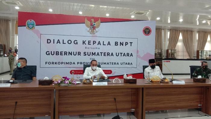 Dialog Kepala BNPT bersama Gubsu (Ahmad Arfah-detikcom)
