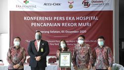 Eka Hospital Catat Rekor MURI dan Resmikan Pusat Layanan Diabetes