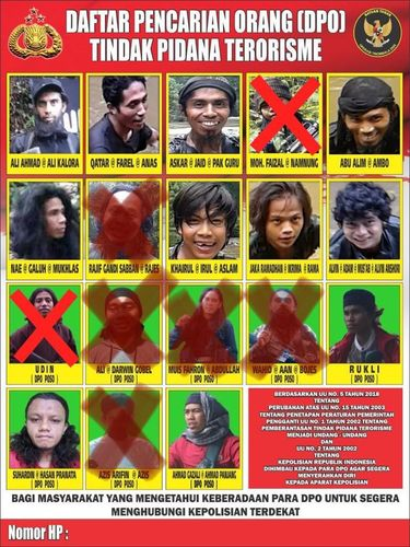 Foto DPO Mujahidin Indonesia Timur Poso pimpinan Ali Kalora
