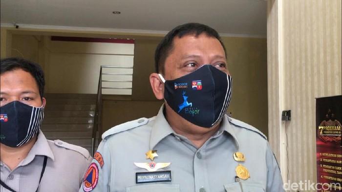 Kepala Badan Penanggulangan Bencana Daerah (BPBD) Kota Bogor Priyatnasyamsah (Taufiq/detikcom)