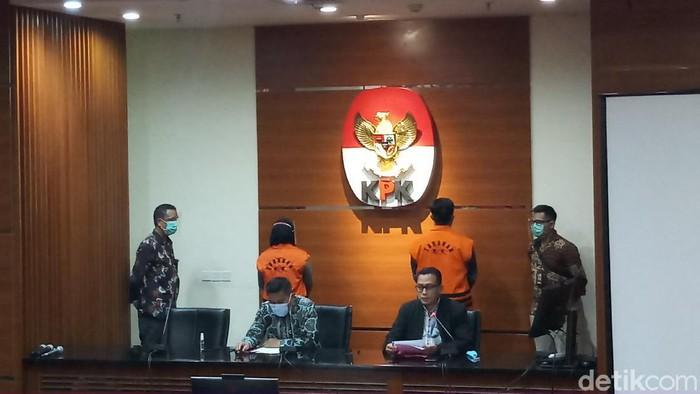 Konferensi pers penahanan  2 Tersangka Bakamla oleh KPK (Farih Maulana Sidik/detikcom).