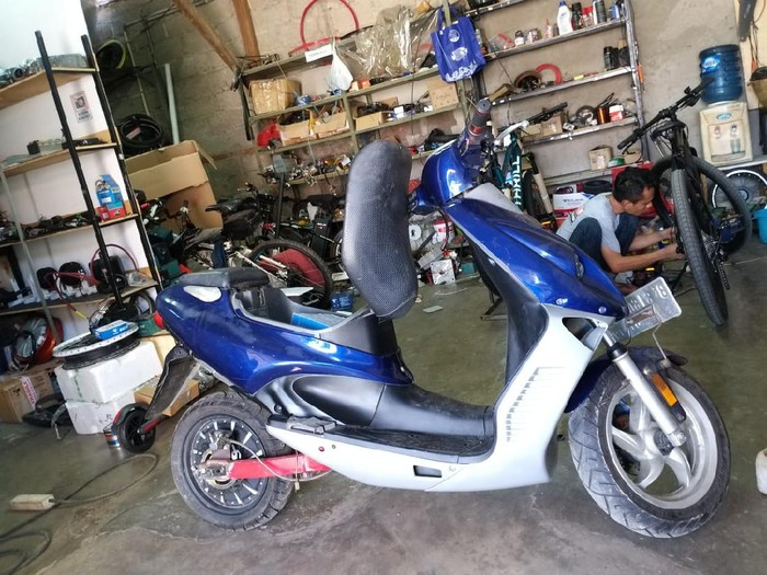 Modifikasi motor bensin jadi listrik