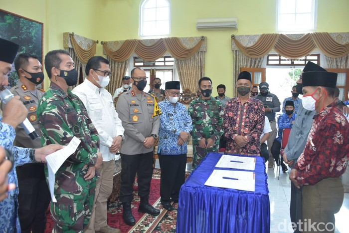 Pertikaian dua desa di Jambi diselesaikan secara damai lewat hukum adat (dok Istimewa)