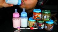 Bikin Kesal, Pria Ini Mukbang ASI dan Makanan Bayi