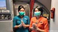 Suasana Terbang Naik Garuda Indonesia Dilengkapi Protokol Kesehatan