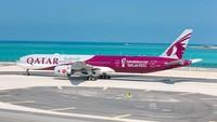 Qatar Airways Pamerkan Pesawat Sambut Piala Dunia 2022
