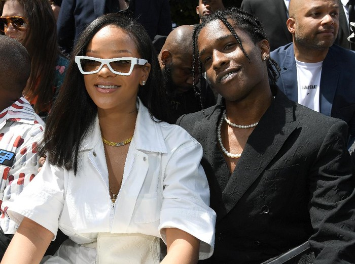 PARIS, FRANCE - JUNE 21: Rihanna and A$AP Rocky attend the Louis Vuitton Menswear Spring/Summer 2019 show as part of Paris Fashion Week on June 21, 2018 in Paris, France.  (Photo by Pascal Le Segretain/Getty Images)