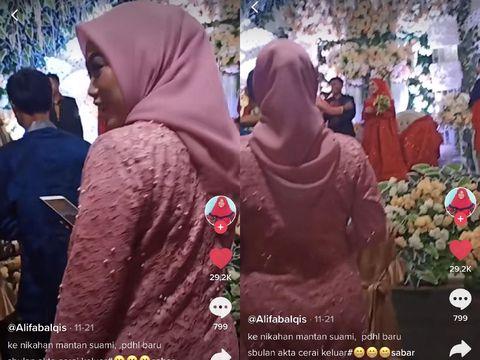 Wanita yang datang ke pernikahan mantan suaminya