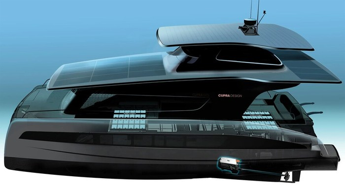 Volkswagen Yacht listrik solar panel