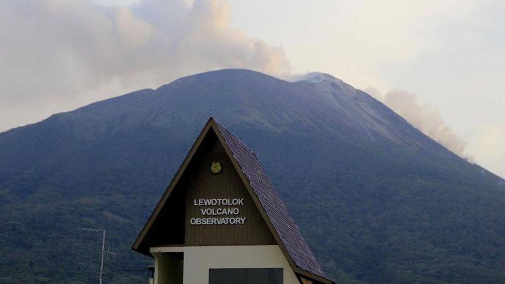 Gunung Lewotolok NTT 2 Kali Erupsi Hari Ini, Terdengar Dentuman Keras